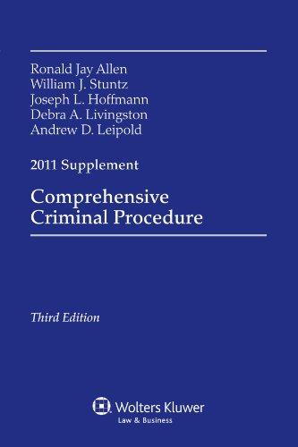 Comprehensive Criminal Procedure, 2011 Case Supplement