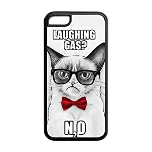 5C Phone Cases, Grumpy Cat Hard TPU Rubber Cover Case for iPhone 5C