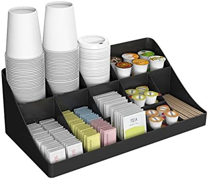 Mind Reader 11 Compartment Breakroom Coffee Condiment Organizer Black Amazon Co Uk Kitchen Home