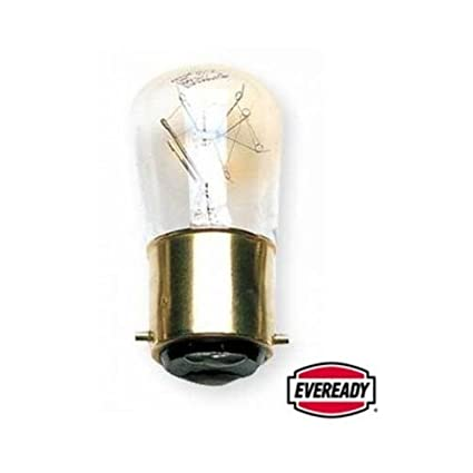 Eveready Branded ERPYG15BCC Pygmy Bulb, Glass, Clear White, B22, 15 W, Pack of 5 0560-01500ue#5