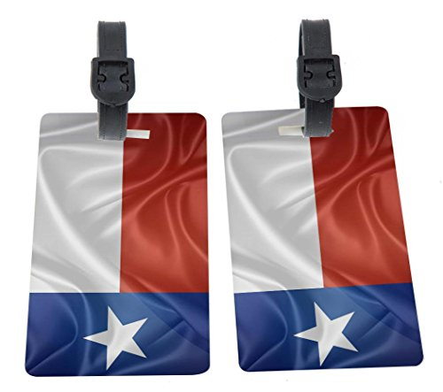 Rikki Knight Texas State Flag Design Premium Quality Plastic Flexi Luggage Identifier...