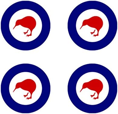 fagraphix Two Pack Royal New Zealand Air Force Roundel Sticker Die Cut Decal FA Vinyl