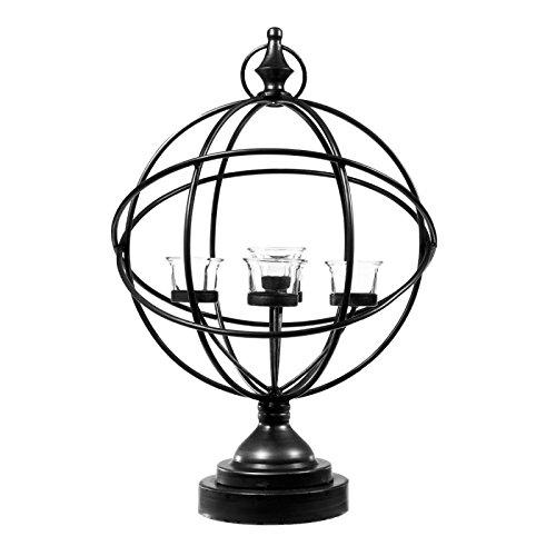 Paris Prix Photophore 5 Têtes Métal globe 49, 5cm Noir