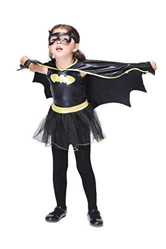 Girlscos Girl's Super Heroes Wonder Woman Kids Halloween Cosplay Costumes Medium Black (Halloween Costumes Ideas For Kids)