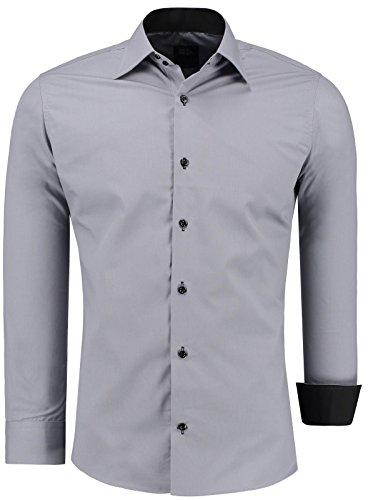 Herren Slim Fit Hemd Bügelleicht– Business-Freizeit-Hochzeit-Date.