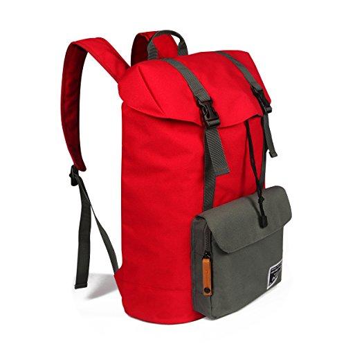 Advocator Laptop Backpack Travel Daypack School Bag Student Bookbag-Red