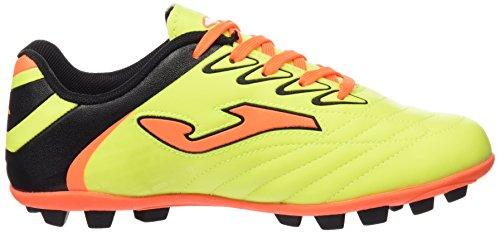 Joma Toledo Jr 611 Limon Fluor-Naranja 22 Tacos, Botas de Fútbol para Niños LIMON FLUOR-NARANJA FLUOR