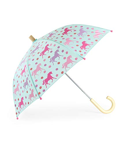 (Hatley Girls' Little Printed Umbrellas, Galloping Horses One Size )