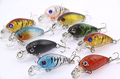 By Smalotus 9pcs/lot Top Quality Fishing Lures 9 color 4.5cm/4g fishing tackle Classic style Mini Crank Small fishing bait