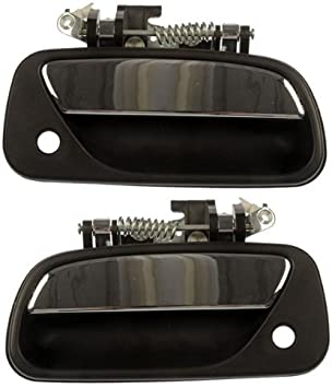 for Ford F150 Outside Exterior Door Handle Textured Chrome Lever Passenger Rear