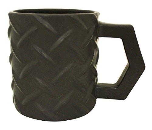 Island Dogs 58584 Man Mug Diamond Plate, Black, 22 oz (Jumbo Ceramic Mug)