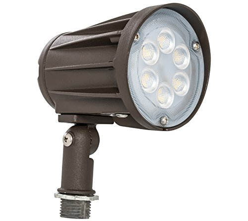 Westgate Lighting Led Outdoor Landscape Garden Bullet Flood Lights - Path Walkway Lawn Spotlights - Knuckle Mount - IP65 Waterproof - High Lumen - 120-277V (15W 3000K Warm White Knuckle)