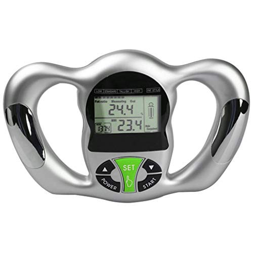 Gallity Electronic Hand Grip Fat Measuring Instrument,Hot Body Fat Monitor With LCD Display Tester Analyzer (Sliver)