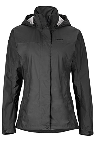Marmot PreCip Women's Lightweight Waterproof Rain Jacket, Jet Black, Medium