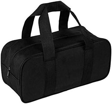 QEES ツールロール ツールケースロール 工具袋 道具袋 オックスフォード製 32*11.5*14cm 建設業者用 工具小物整理ケース (ブラック)