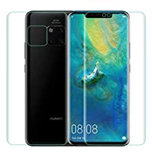 OMYFILM Screen Protector for Huawei Mate 20 Pro [Front + Back] OMYFILM Huawei Mate 20 Pro TPU Film [Not Glass] Superior Protection Back Screen Protector for Huawei Mate 20 Pro
