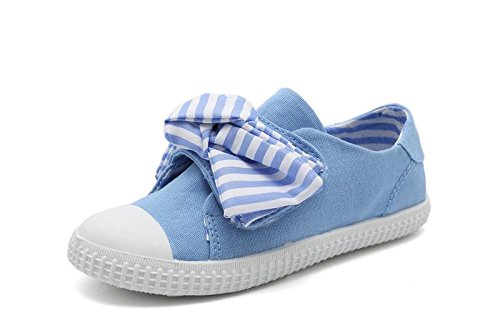 SNUOEN Girls Canvas Boat Shoes Toddler Princess Marry Jane Outdoor Sneakers - Mary Jane Canvas Sneakers