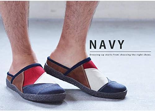 サボサンダル スリッポン クロッグ 軽量 靴 メンズシューズ 着脱簡単 トリコロール パッチワーク メッシュ素材 屈曲性 サンダル サボシューズ