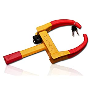 Zento Deals Security Tire Clamp - Superb Quality Heavy Duty Anti- Theft Vehicle Wheel Lock