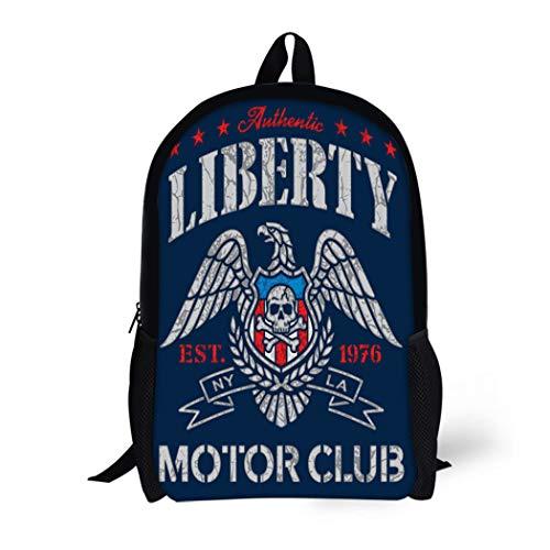 American Tattoo Flag Eagle - Pinbeam Backpack Travel Daypack American Liberty Eagle Motor Club Americana Flag Vintage Waterproof School Bag