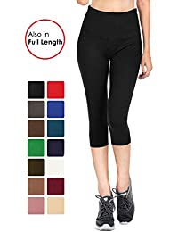 Signature Leggings Solid Brushed Yoga High Waist Capri...
