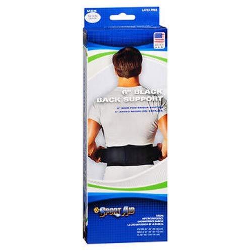 SportAid Back Belt Durofoam 6\ Medium Large Black