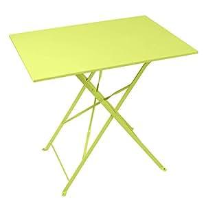 Truffaut: mesa en acero 77x 57: Lime