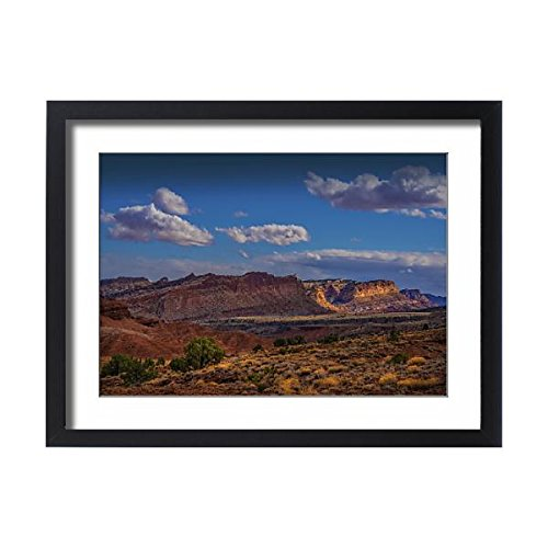 Media Storehouse Framed 24x18 Print of A Scenic View at Capital Reef National Park in Utah, Western (12474821)