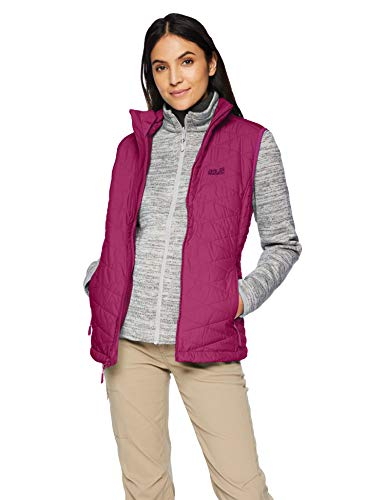 Jack Wolfskin Women's Aquila Glen 3-in-1 Windproof Fleece & Vest Combination, Amethyst, Medium