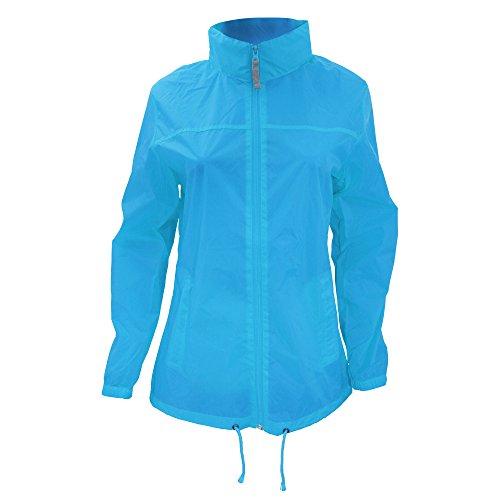B&C Women's Ladies Sirocco Jacket Raincoat Atoll