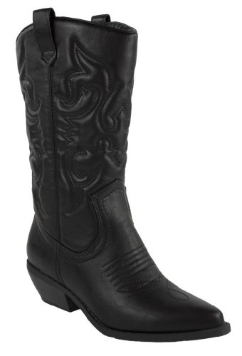 d2aec03a431 Soda Women's Red Reno Western Cowboy Pointed Toe Knee High Pull On Tabs  Boots