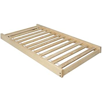 this item twin size trundle bed frame unfinished wood 100 clean solid wood no toxins made in america simple and strong