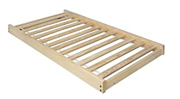 twin size trundle bed frame unfinished wood 100 clean solid wood no toxins - Twin Bed Frame Size