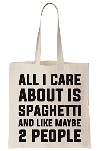 About Bag 2 And People Maybe Is Spaghetti Like Canvas All I Care Tote Ewq877C