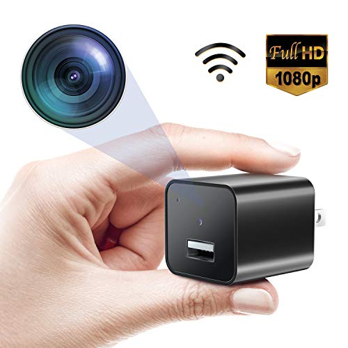 Mini Spy Camera, 1080P WiFi Hidden Security Cameras, Nanny Cam with Vision Motion Detective, Perfect Indoor Covert Secutity Camera for Android/iOS