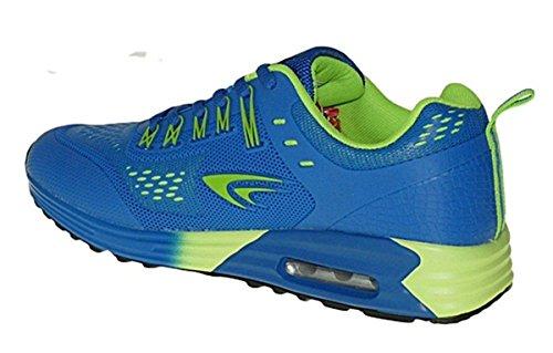 Bootsland Art 480 Neon Luftpolster Turnschuhe Schuhe Sneaker Sportschuhe Neu