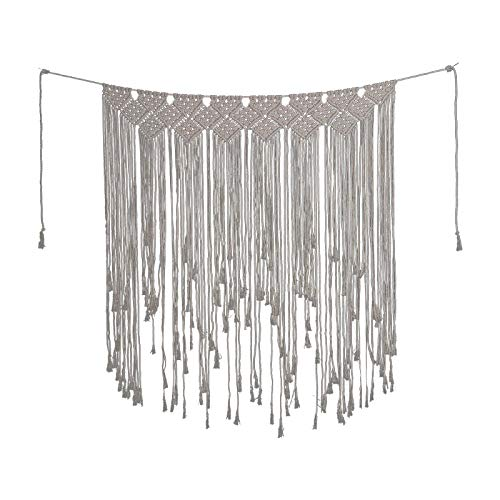JYUAN Handmade Woven Macrame Wall Hanging Banner Boho Home Decor Tapestry 39inches W x 45inches L