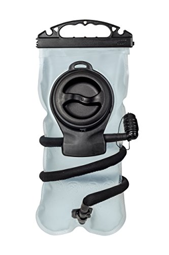 Water Hydration Bladder 2.5 Liters, Super Wide Mouth Opening + Zip Top, Detachable Insulated Tube, BPA Free, Easy to Clean Reservoir, Back Pack Bag for Camping, Cycling, Climbing, Hiking