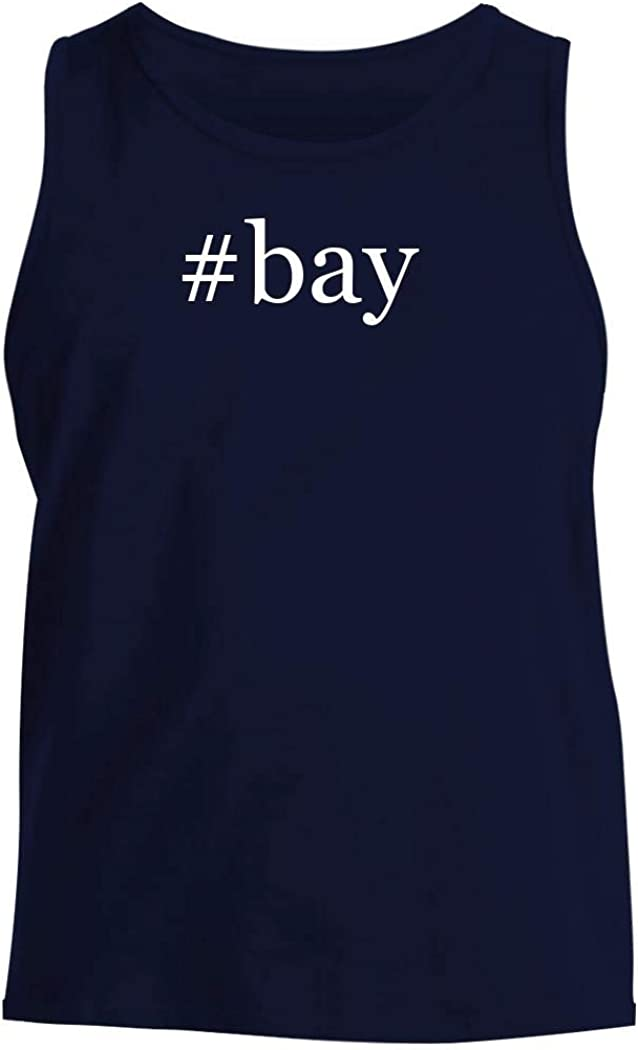 #bay - Men's Hashtag Comfortable Tank Top, Navy, XX-Large