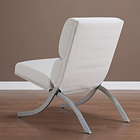 Pleasant Contemporary Modern Unique Faux Bonded Leather Foam Chair White Machost Co Dining Chair Design Ideas Machostcouk