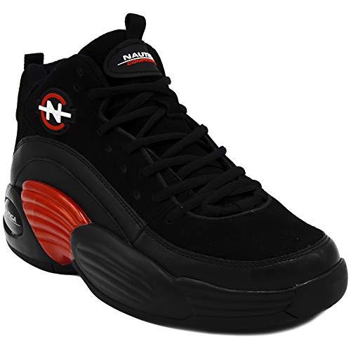 Nautica Competition Retro Men's Fashion Sneakers Sport Casual Athletic Shoes-Spara-Black Red-10.5 (Retro 17 Jordan Shoes)