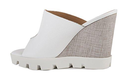 Donna Pe17 Bianco Saffiano Scarpe Sandalo 27703 Sax Uf0gExq