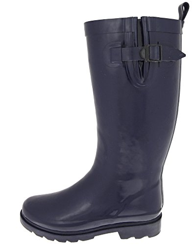 Capelli New York Gusset & Back Pull Loop Da Donna Alto In Gomma Da Pioggia Boot Navy