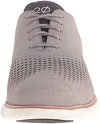 Cole Haan Men/'s 2.ZeroGrand Lined Laser Wingtip Oxford Iron//Ivory Style C23814