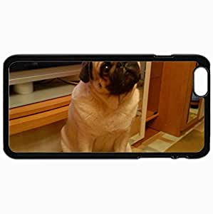 Customized Cellphone Case Back Cover For iPhone 6 Plus, Protective Hardshell Case Personalized Dog Pug Cool Black