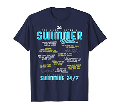 (You Know You're A Swimmer When Funny Swim T Shirt)