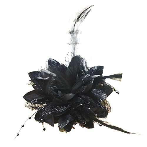 Pop Your Dream Vintage Women Hairpin Silk Floral Bridal Feather Lace Fancy Wedding Party Cocktail Bead Hair Accessories
