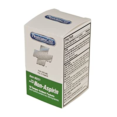 PhysiciansCare Non-Aspirin Acetaminophen Pain Reliever Medication (Compare to Tylenol), Xpress First Aid Refill, 10 Doses of 2 Tablets from PhysiciansCare