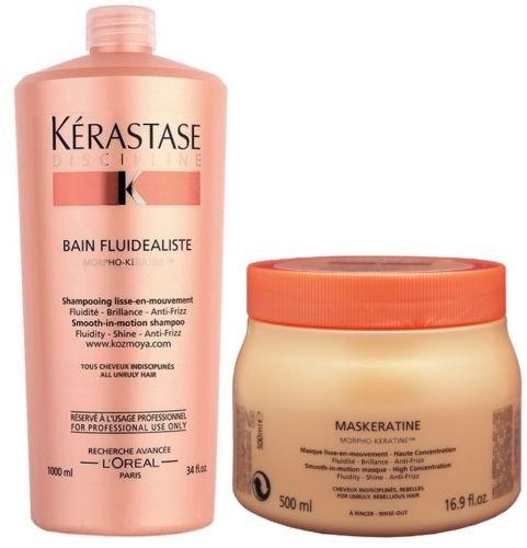Pack Discipline 4 : Bain Fluidealiste 1000ml+ Masque Maskeratine 500ml Kerastase Good Care Hair by Good Care Hair