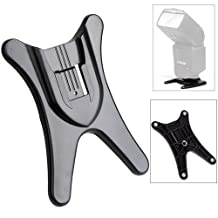HDE Hot Shoe Flash Stand for Cameras Picture Taking Flash DSLR Digital Photography